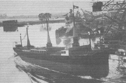 Stapellauf der 'RMS Barbara' am 28. April 1926