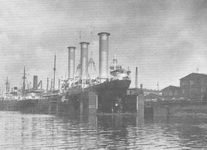 Die 'RMS Barbara' im Dock der AG Weser Bremen