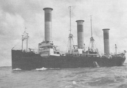 Das Rotorschiff 'Barbara' auf See
